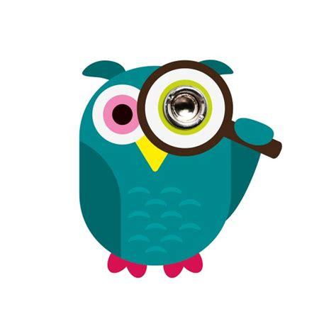 jam alarm owl sticky jam peephole sticker owl design3000