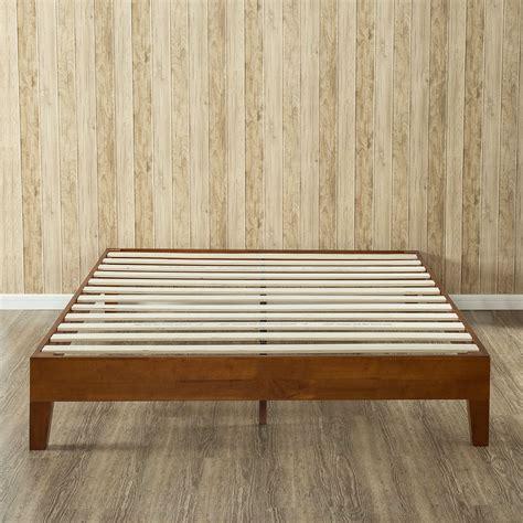 size solid wood low profile platform bed frame in