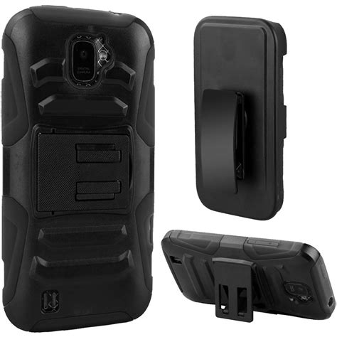 Rugged Holsters by For Zte Citrine Z716g Heavy Duty Rugged Stand Belt Clip Holster Phone Cover