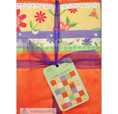 Cuddly Quilt Kits by Weekend Kits Baby Quilt Kits Bright Colors