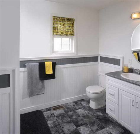 bloombety with wainscoting in bathroom ideas floor tile