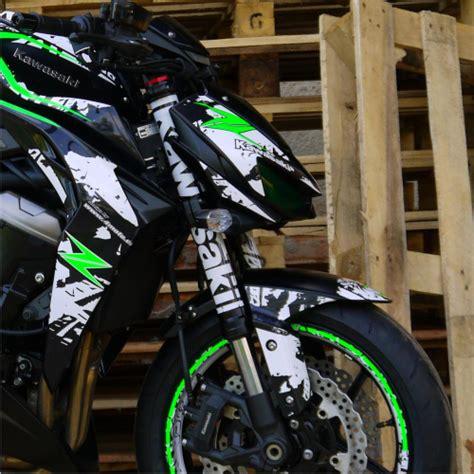 Kawasaki Monster Aufkleber by Motorradaufkleber Bikedekore Wheelskinzz Kawasaki