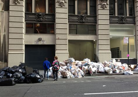 The City Digs Through Nyc Trash by On The Keeping Trash The Sidewalks In