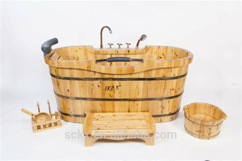 buy wooden bathtub chinese freestanding portable wooden walk in small bathtub