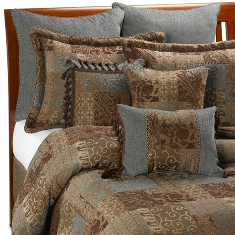 croscill galleria comforter set croscill 174 galleria comforter set in chocolate