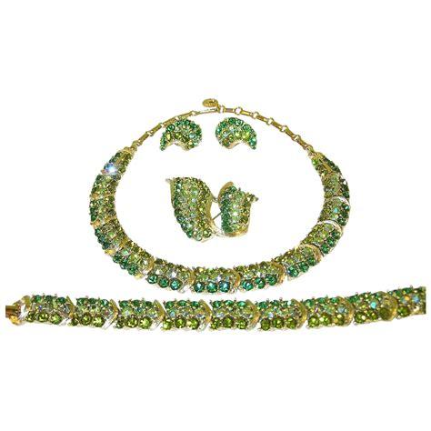 rhinestone for jewelry vintage lisner rhinestone jewelry set bracelet necklace