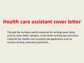 Cover Letter For Care Assistant No Experience by Health Care Assistant Cover Letter