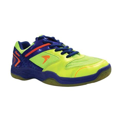 Sepatu Badminton Flypower jual flypower pawon citrus sepatu badminton blue orange harga kualitas terjamin