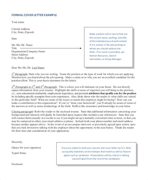 Formal Covering Letter cover letter format 17 free word pdf documents
