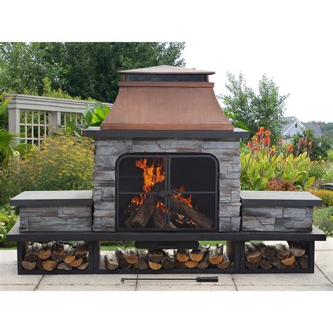Sunjoy Fireplace by Sunjoy Linkletter Place