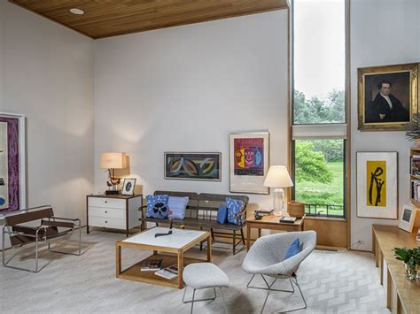 cozy modern living room the dana house is a mid century marvel in connecticut