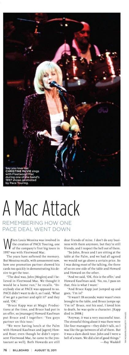 Mac Attack by Fleetwood Mac News Christine Mcvie A Mac Attack