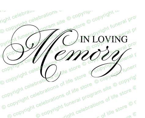 program titles in loving memory program title