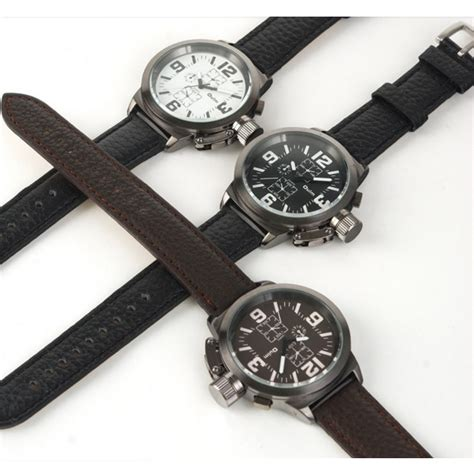 Jam Tangan Quartz Brown oulm jam tangan analog 8053 brown jakartanotebook