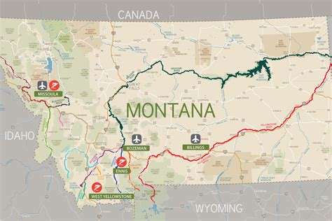 map of rivers in montana montana rivers