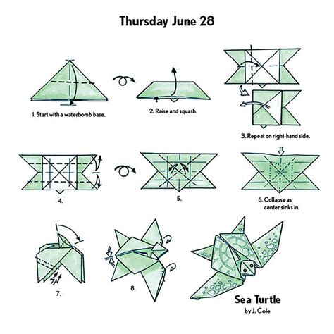 Origami Calender - free coloring pages easy origami fold a day 2018 desk