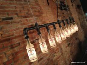 Bar Wall Decor by Industrial Style Bottle L Jim Beam Chandelier Steunk