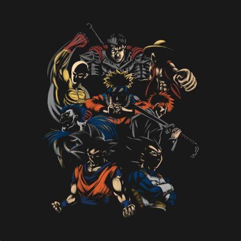 anime invincible team anime mashup t shirt anime and