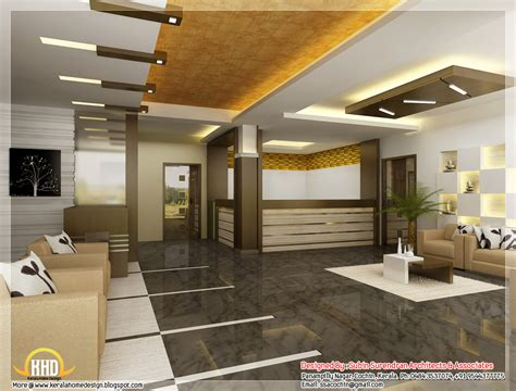 3d Home Interior Beautiful 3d Interior Office Designs Kerala Home Design Architecture House Plans