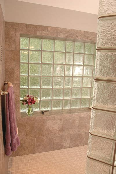 glass block window in shower awesome design ideas for walk in showers without doors
