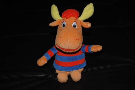 Backyardigans Dolls Backyardigans Tyrone Orange Moose Ty Beanie Doll 2004 Ebay