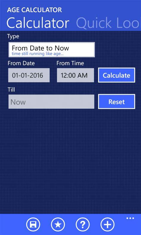 age calculator age calculator free windows phone app market