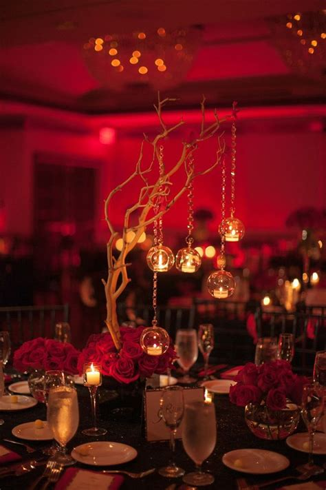 black red wedding centerpieces wwwarmoniaprcom