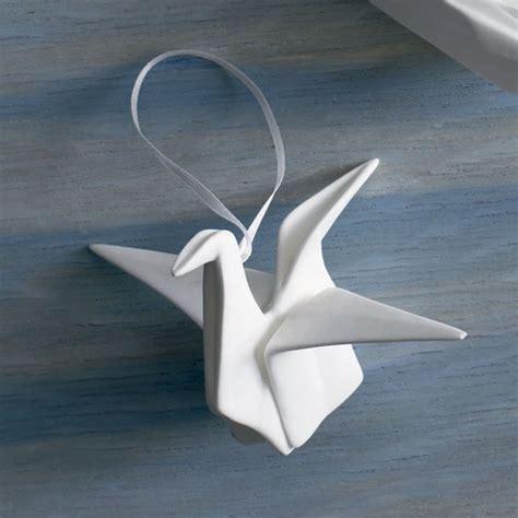 Origami Pottery - origami crane ornament winter