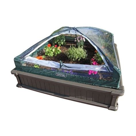 lifetime raised garden bed kit  beds  vinyl enclosure