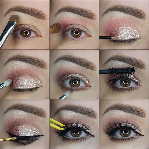 elegant makeup tutorial 9 steps elegant golden glitter makeup tutorial style