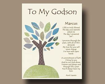 Confirmation Letter To Goddaughter gift for godson etsy