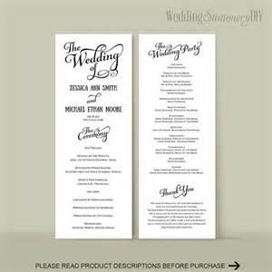 wedding program diy wedding program templates reception