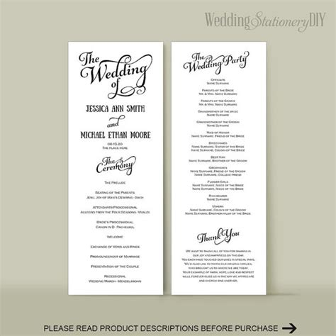 wedding reception program template wedding program diy wedding program templates reception