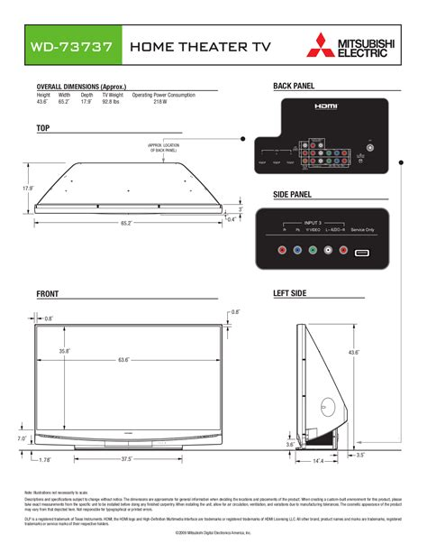 mitsubishi wd 73737 free pdf for mitsubishi wd 73737 tv manual