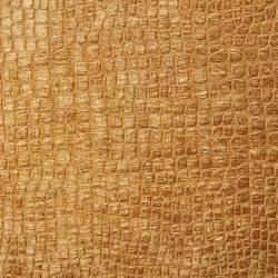 copper brown alligator print shiny woven velvet upholstery