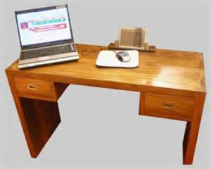 beau bureau console en margousier id 233 al pour ordinateur