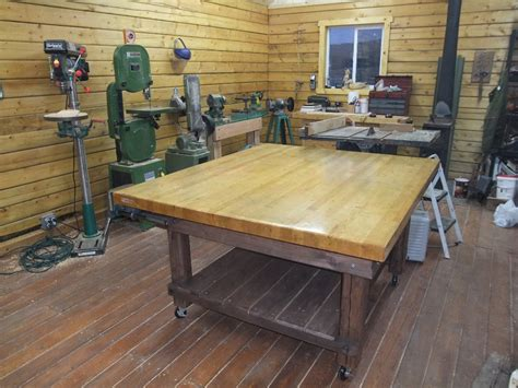 woodworking shop benches the adventures of us log cabin wood shop nifty new work
