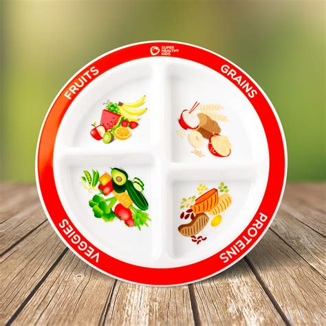 plate divided into sections kids myplate section plate super healthy kids