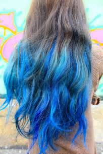 colors to dye brown hair hair trends 2015 10 blue dip dye hair colors for