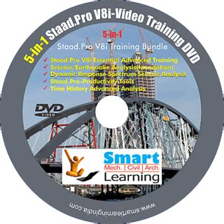 Learn Yourself Staad Pro V8i 5 in 1 staad pro v8i tutorials dvd