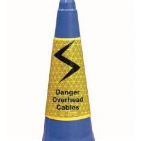 Traffic Cone Karet Safe Line danger overhead cables cone sleeve 750mm manchester