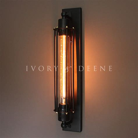 Edison Light Sconce by Matt Black Industrial Studio Sconce Wall Light Edison
