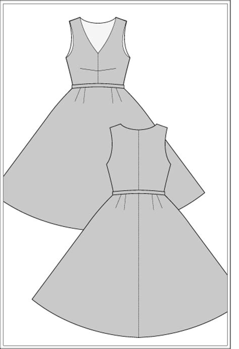 dress pattern block templates carmen dress 1950 s sewing pattern ralphpink com