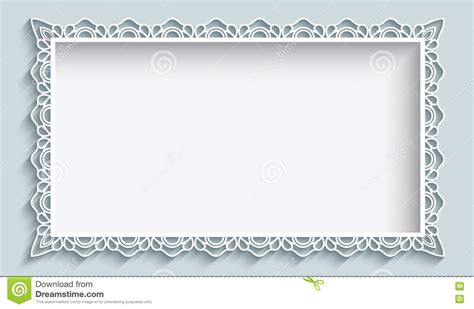 paper wishes card templates cutout paper frame with border ornament vector