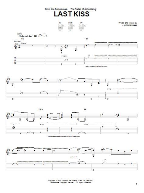 last kiss tutorial guitar last kiss guitar tab by joe bonamassa guitar tab 76462
