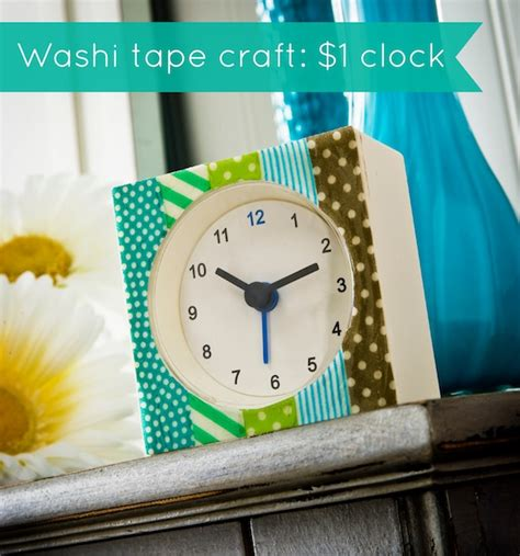 washi crafts makeover a 1 clock using washi washi crafts
