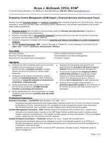 Insurance Claims Processor Sle Resume by Bruce Mc Dowell Resume Ecmtw