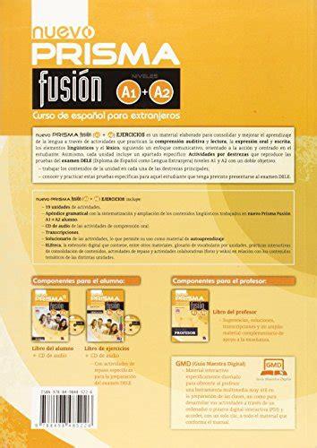 libro nuevo prisma fusion a1 libro nuevo prisma fusion a1 a2 libro de ejercicios con espansione online con cd per le