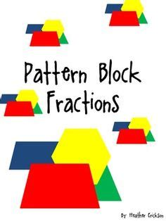 pattern block fractions video 1000 images about math on pinterest fractions pattern