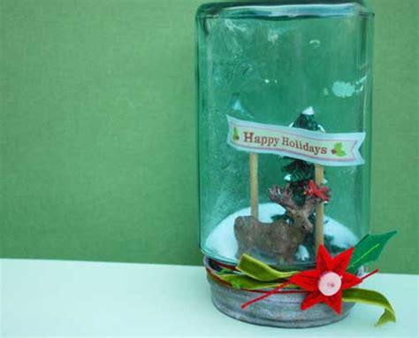 Mason Jar Snow Globe Gift Card - craftionary
